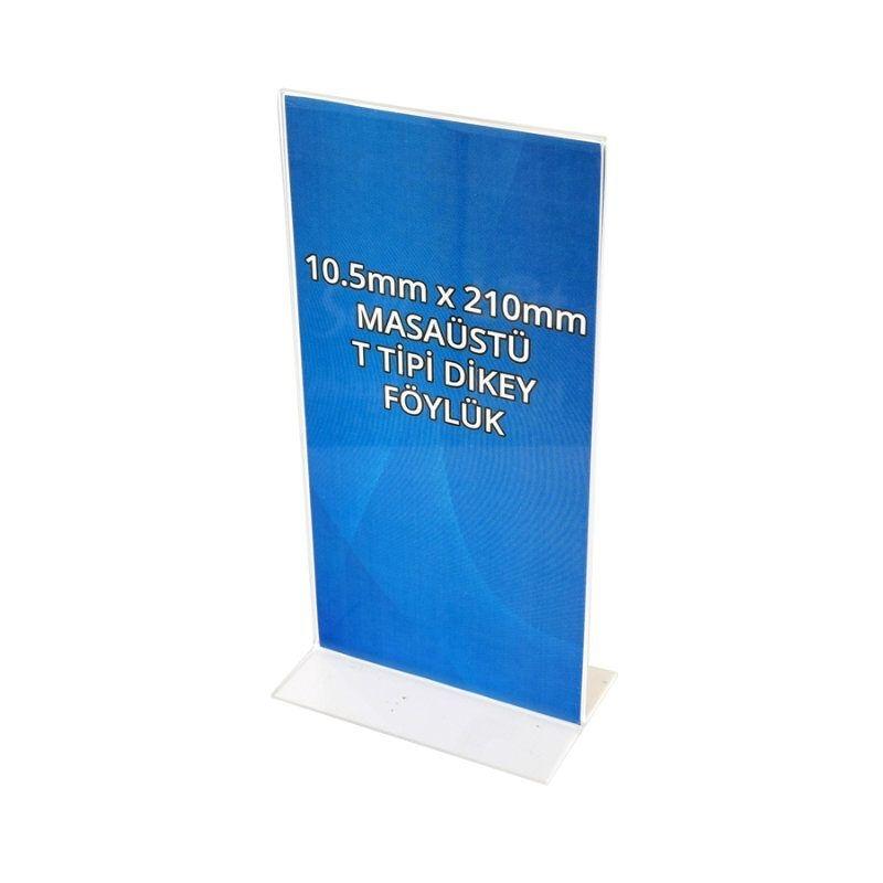 105mm x 210mm Masaüstü Föylük T Tipi Dikey