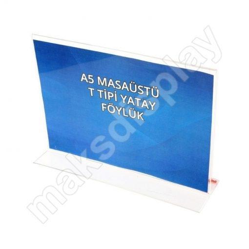 A5 (148mm x 210mm) Masaüstü Föylük T Tipi Yatay