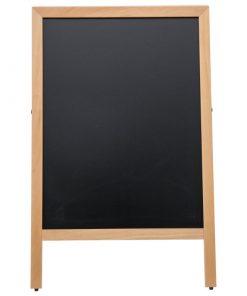 İç Mekan Ahşap Yazılabilir A-Pano - Yazılabilir Alanı 60x78 cm